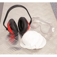 A orelha do jogo dos produtos da segurança Muffs o OEM da máscara respirando da orelha / olho / protetor