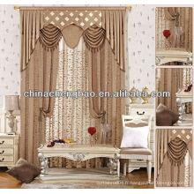 Design de rideau de salon de luxe classique et élégant