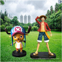 FRP One Piece Painted Chopper Sculpture Cartoon Anime One Piece Theme Character Decoration