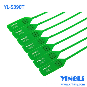 Disposable Customized Plastic Seal Tag with Metal Locking Insert