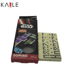 Jogo de dominó de marfim personalizado clássico conjunto com caixa de papelão engraçado