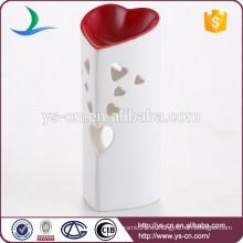 Venta al por mayor en forma de corazón titular de vela de luz de té para la decoración del hogar