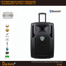 12′′ Mobile Party DJ Dancing Karaoke Trolley Bluetooth Active Speaker