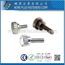 Taiwán Acero inoxidable de cobre Nylon plástico moleteado pulgar moleteado botón tornillo moleteado