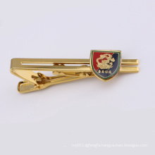Gold Plated Metal Tie Clip with Badge (GZHY-LDJ-007)