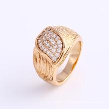 Anel de dedo da jóia 18k do ouro da forma 18k na liga para mulheres -12001