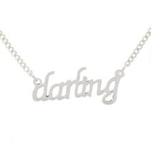Лучшие продажи милая изображений серебряные ожерелья, ювелирные изделия ожерелья инжектор для женщин
