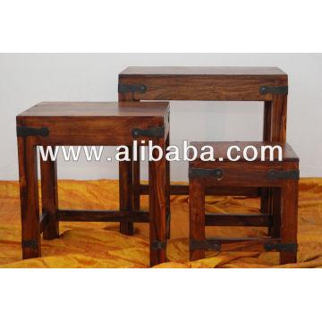 Nid de table en bois de Sheesham