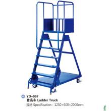 Heavy Duty Warehouse Steel Storage Ladder Truck Cart