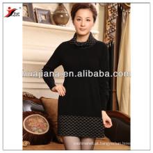 moda feminina cashmere inverno tricô vestido