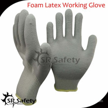 SRSAFETY 10G acrylic latex coated safety gloves/industrial latex rubber hand gloves