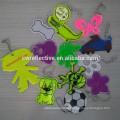 Promotional Plastic Reflective Key Chain / kids safety reflectors shape