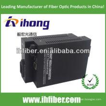 SC 10 / 100M fibra óptica Media Converter singlemode fibra dupla 20 km