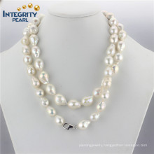 """Large Baroque Pearl Necklace AA 11-13mm Edison Baroque 36"""" Necklace Simple Pearl Necklace Designs"""