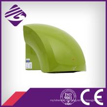 Secador de manos automático verde montado en la pared del ABS del hotel pequeño (JN70904B)