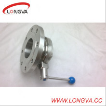 Sanitary Stainless Steel Flanged Welded Butterfly Valve