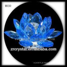 Flor de lótus de cristal azul