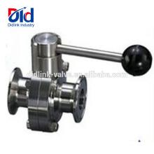 3d Globe V Company 12-контактный пластинчатый клапан с двумя смещениями из нержавеющей стали, быстрая загрузка, санитарный клапан-бабочка