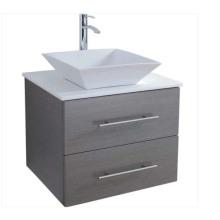 Caliente venta de pared de madera veener gabinete de baño con espejo