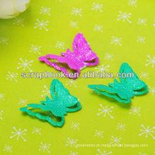 de metal encantos borboleta gliter
