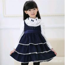 Hot selling child casual winter frocks girl woolen dress
