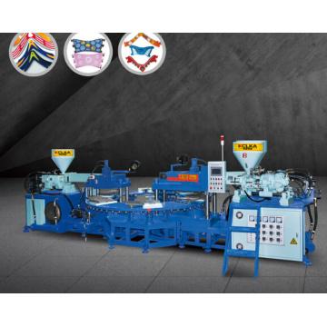 Máquina de moldeo superior de 3 colores para PVC / Sole / Strip