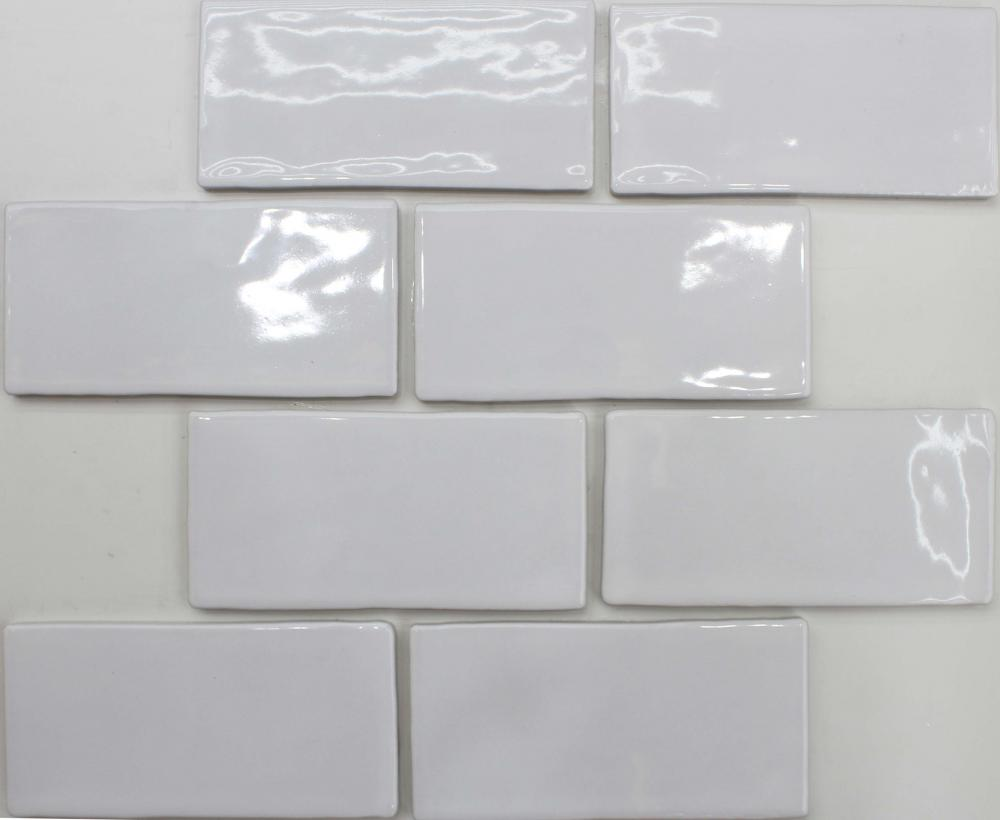 White Brick Look Porcelain Mosaic Tile