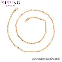 44954 Xuping gros bijoux nouvelle arrivée 18k or plaqué chaîne de mode colliers