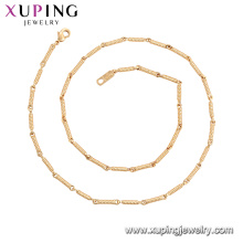 44954 Xuping Wholesale jewelry new arrival 18k gold plated fashion chain necklaces