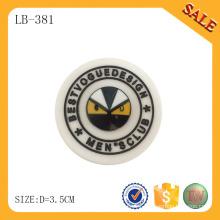 LB381 Custom garment pvc logo embossed reflective label/patch/tag