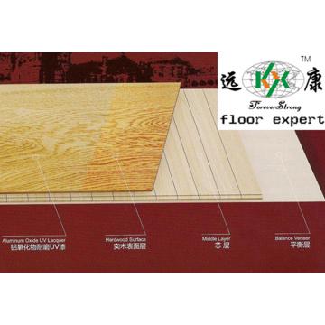 Rustikaler Stil Eiche Engineered Parkettboden
