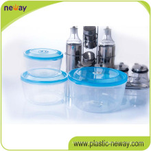 Cheap Custom Plastic Transparent Round Food Container