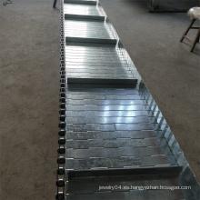 Cinta transportadora de eslabones de placa de cadena de acero inoxidable