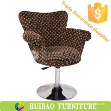 Design Leisure Flock Fabric Tub Chair Luxury Swan Chair