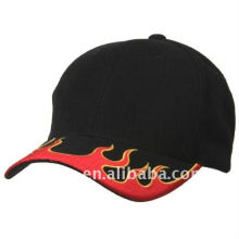 flame embroidery baseball hat