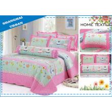 Edredón de ropa de cama de algodón con estampado de niños de 6 piezas (juego)