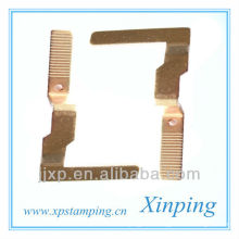 custom metal sheet stamping bronze parts