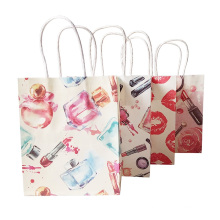 Small Gift paper Bag With Handles for fashion store Wedding Party Xmas New year Beauty Gift Bag Lips Perfume