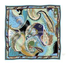 fashion turkey foulard in silk/soie with good quality by screen printing