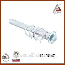 D19040 acabados de cristal para barras de cortina / barra de cortina cuadrada / barra de cortina de baño de esquina 16 / 19mm de diámetro