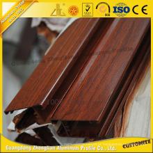 Perfil de alumínio de grão de madeira de alta qualidade