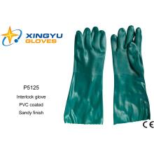 Cotton Interlock PVC Coated Safety Work Glove (P5125)