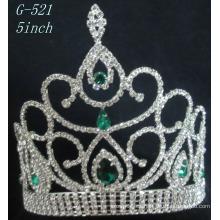Tiara de plata de la princesa de la joyería de la boda Tiara Tiara del precio de la cabeza de pelo de las mujeres