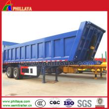 2 Axles Hydraulic Cylinder Semi Rear Tipper Trailer