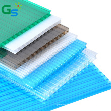 10Mm Brown Bendable Multi Layer Polycarbonate Hollow Sheet Greenhouse Roofing Plastic Sheet