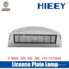 Offroad License plate lamp with E-MARK white truck license plates lamp number plate light