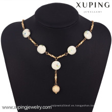 42770 Xuping joyería de moda 18k oro jade collar para mujer