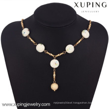 42770 Xuping Fashion Jewelry 18k Gold jade Necklace For Woman