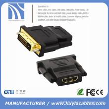 DVI 24 + 1 mâle vers HDMI Female Gold Converter Câble adaptateur pour hdtv