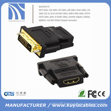 DVI 24+1 Male To HDMI Female Gold Converter Adapter cable for hdtv